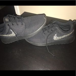 Nike Black sneakers with Sequins. Size 8 1/2.